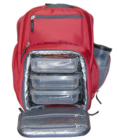 72c9b9f5cc 6 Pack Fitness Expedition Backpack Meal Mangement System Containers