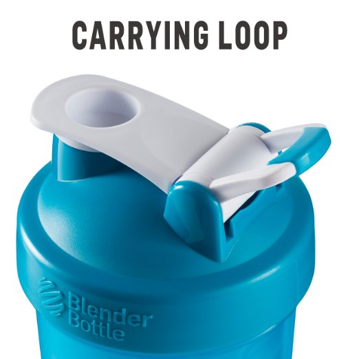 Blender Bottle 'loop and flip' Cap Design