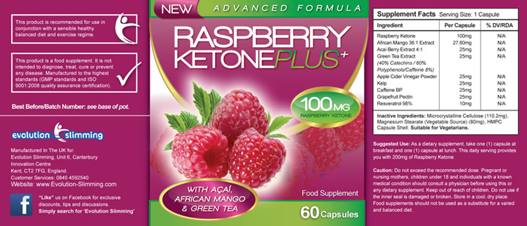 Raspberry Ketone Plus Ingredients